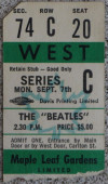 1964 Beatles Toronto ticket stub 280