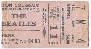 Beatles Ticket Stubs – I Wanna Hold Your Stub