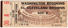 1964 Redskins at Browns ticket stub