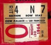 1964 WHL San Francisco Seals ticket stub vs Portland