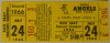 1966 MiLB Seattle Angels Sicks Stadium ticket stub
