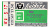 1970 AFC Divisional Game ticket stub Dolphins vs Raiders