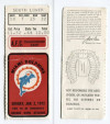 1971 AFC Championship Game ticket stub Dolphins vs Colts