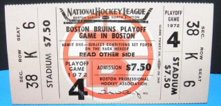 1972 NHL Stanley Cup Final Gm 4 Blues at Bruins ticket stub