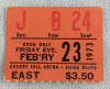 1973 EHL Jersey Devils ticket stub vs Johnstown Jets