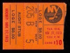 1973 Flames at Islanders ticket stub