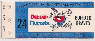 1977 Braves at Nuggets