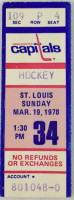 1978 Blues at Capitals ticket stub