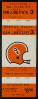 1979 NCAAF San Jose State at Oregon State ticket stub