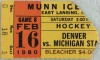 1980 NCAAMH Denver at Michigan State ticket stub