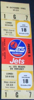 1982 AHL Sherbrooke Jets ticket stub vs Hershey