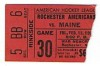 1982 AHL Maine Mariners at Rochester Americans ticket stub