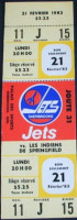 1983 AHL Sherbrooke Jets unused ticket vs Springfield