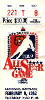 1982 NHL All Star Game Washington DC ticket stub