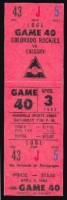 1982 NHL Flames at Rockies ticket stub