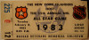1983 NHL All Star Game Gretzky scores 4 goals in 3rd period ticket stub