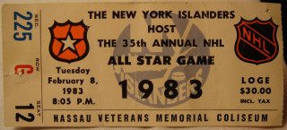 1983 NHL All Star Game Gretzky scores 4 goals in 3rd period ticket stub 31