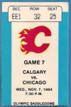1984 NHL Blackhawks at Flames ticket stub