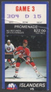 1986 New York Islanders ticket stub vs Devils