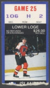 1986 Flyers at Islanders ticket stub