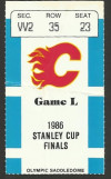 1986 NHL Stanley Cup Final Game 1 ticket stub Canadiens at Flames