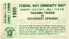 1989 MiLB PCL Colorado Springs at Tacoma Tigers ticket stub