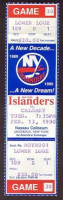 1990 Flames at Islanders ticket stub
