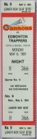 1991 MiLB PCL Edmonton Trappers at Calgary Cannons ticket stub