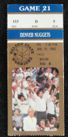 1992 NBA Denver Nuggets at Golden State Warriors ticket stub