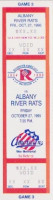 1995 AHL Albany River Rats at Rochester Americans ticket stub