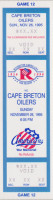 1995 AHL Cape Breton Oilers at Rochester Americans ticket stub