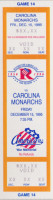 1995 AHL Carolina Monarchs at Rochester Americans ticket stub