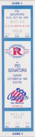 1995 AHL PEI Senators at Rochester Americans ticket stub