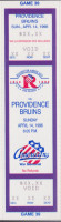 1995 AHL Providence Bruins at Rochester Americans ticket stub