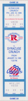 1995 AHL Syracuse Crunch at Rochester Americans ticket stub