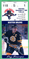 1995 NHL Bruins at Panthers ticket stub