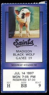 1997 MiLB Madison Black Wolf at St Paul Saints