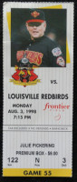 1998 MiLB Intl League Louisville Redbirds at Rochester Red Wings ticket stub