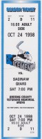 1998 UHL Saginaw Gears at BC Icemen ticket stub