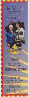1999 ECHL Hampton Roads Admirals ticket stub vs Toledo