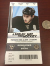 2011 Bruins at Penguins ticket stub