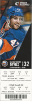 2014 Devils at Islanders Jagr's 700th goal ticket stub