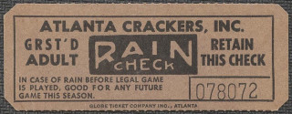 Atlanta Crackers ticket stub