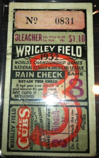 1932 World Series Gm 3 Yankees at Cubs Ruth 2 HR Called Shot