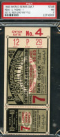 1940 World Series Game 7 Ticket Stub Tigers vs Reds