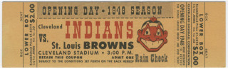 1948 Browns at Cleveland Indians Opening Day