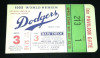 1955 World Series Gm 3 Yankees vs Dodgers ticket stub