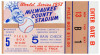 1957 World Series Game 5 ticket stub NY Yankees at Milwaukee Braves