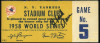 1958 World Series Game 5 ticket stub Braves at Yankees