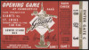 1960 SF Giants Opening Day Ticket Stub